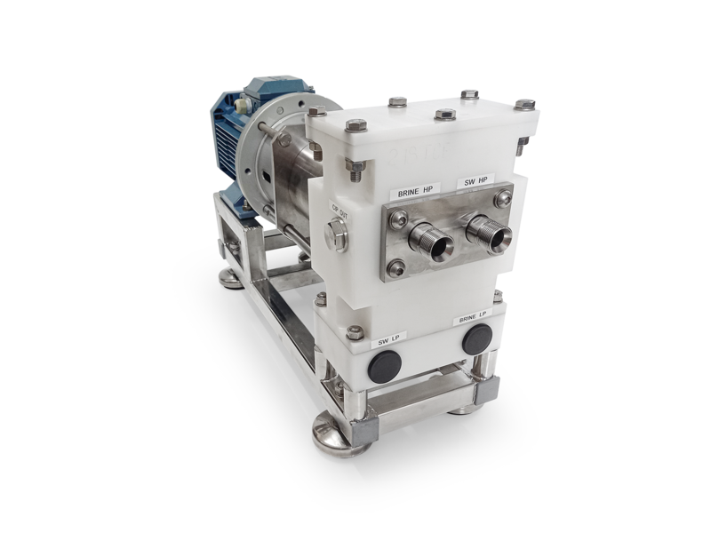 High-pressure pump unit for SWRO