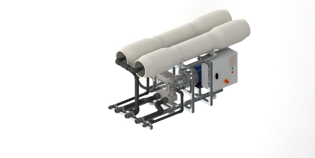 Seawater RO unit 40 c m per day